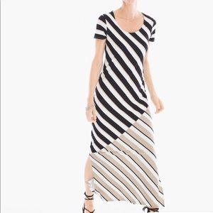 Chico's Zenergy Striped Maxi Dress Size 3 XL